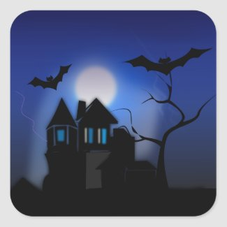 Spooky House Sticker sticker