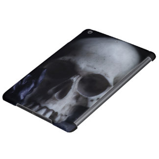 Spooky Human Skull Grim Black White Photography iPad Air Cases