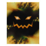 Spooky Jack O Lantern Face Blk Original Orange Flyers