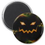 Spooky Jack O Lantern Face Blk Original Orange Fridge Magnet