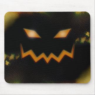 Spooky Jack O Lantern Face Blk Original Orange Mouse Pad
