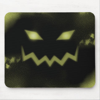 Spooky Jack O Lantern Face Blk Yellow Mouse Pad