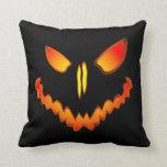 Spooky Jack O Lantern Face Throw Pillows