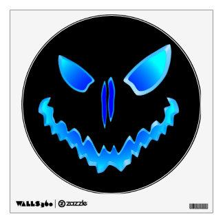Spooky Jack O Lantern Face Wall Sticker
