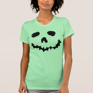 Spooky Jack-o-lantern Ghoul Face Shirt