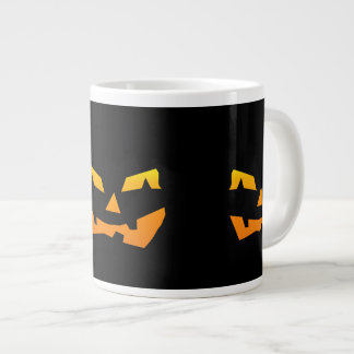 Spooky Jack O Lantern Halloween Pumpkin Face 20 Oz Large Ceramic Coffee Mug