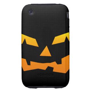 Spooky Jack O Lantern Halloween Pumpkin Face iPhone 3 Tough Covers