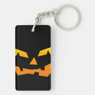 Spooky Jack O Lantern Halloween Pumpkin Face Acrylic Keychains