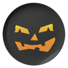 Spooky Jack O Lantern Halloween Pumpkin Face Plates