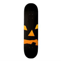 Spooky Jack O Lantern Halloween Pumpkin Face Skateboard Deck