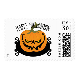 Spooky Jack-o-lantern Postage Stamp