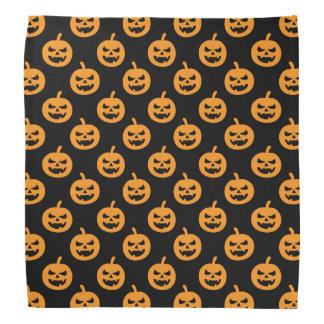 Spooky Jack O Lantern Pumpkin Halloween Pattern Bandana