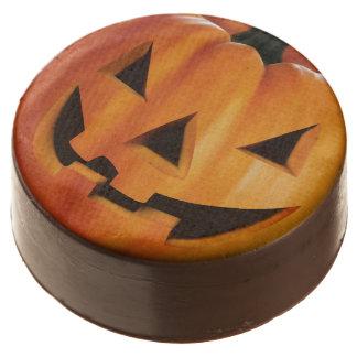 Spooky Jack O Lantern Pumpkin - Happy Halloween Chocolate Covered Oreo