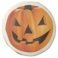 Spooky Jack O Lantern Pumpkin - Happy Halloween Sugar Cookie