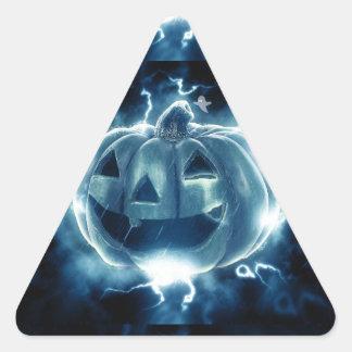 Spooky Jack-o-Lantern Triangle Sticker