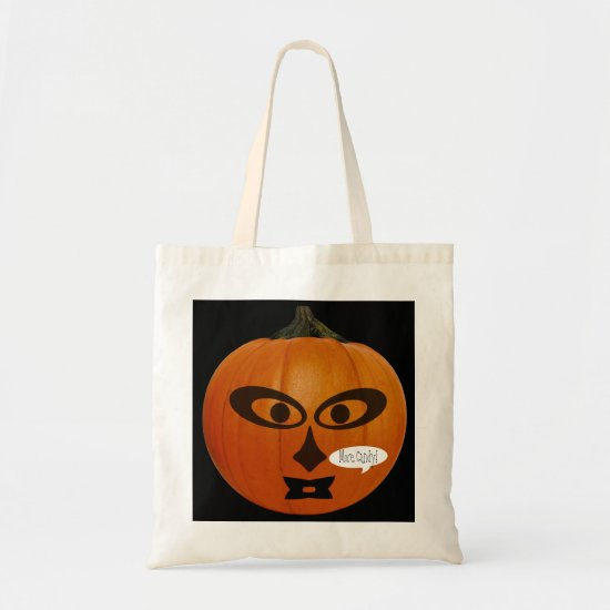 Spooky Jack-O-Lantern Trick or Treat Tote Bag