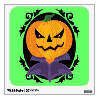 Spooky Jack-o-lantern Wall Decal