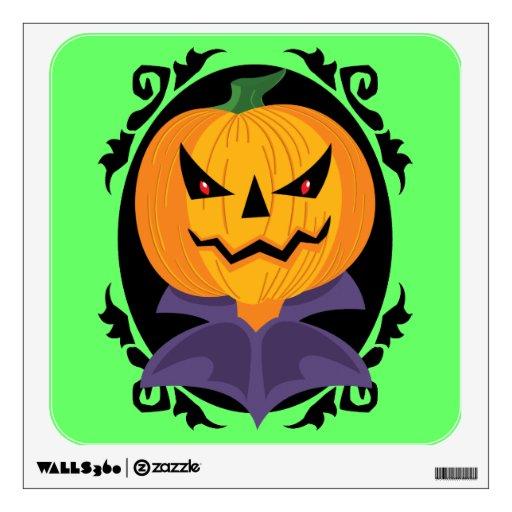 Spooky Jack-o-lantern Wall Stickers
