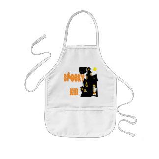 spooky kid /bib kids' apron