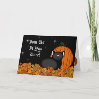Spooky Kitty and Pumpkin Collection card
