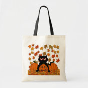 Spooky Kitty Canvas Bags