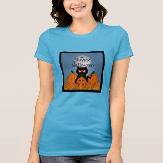 Spooky Kitty Happy Halloween Women's Basic T-Shirt