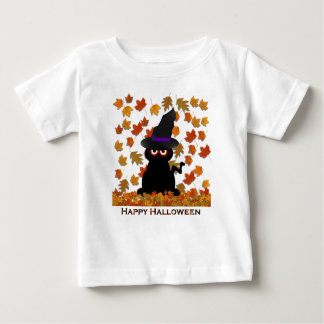 Spooky Kitty Witch Baby T-Shirt
