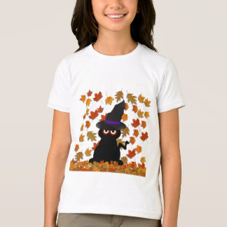 Spooky Kitty Witch T-Shirt