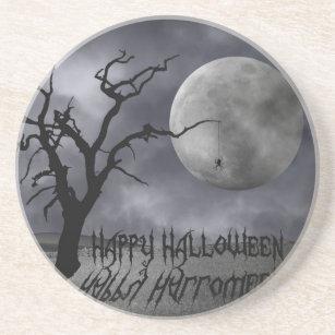 Spooky Landscape Halloween - Sandstone Coaster