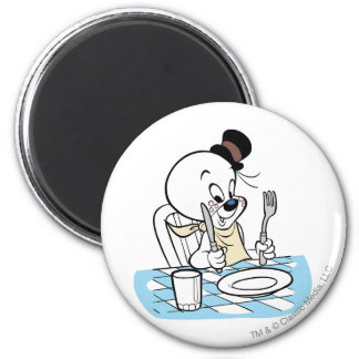 Spooky Lets Eat 2 2 Inch Round Magnet