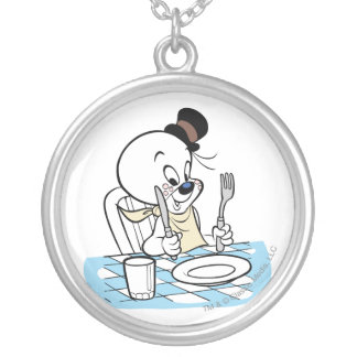 Spooky Lets Eat 2 Silver Plated Necklace