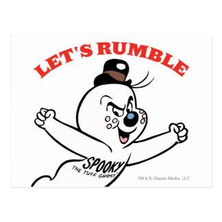 Spooky Lets Rumble Postcard