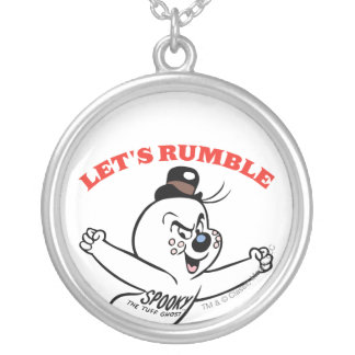 Spooky Lets Rumble Silver Plated Necklace