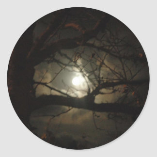 Spooky Light Classic Round Sticker