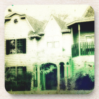 Spooky looking house merchandise coasters