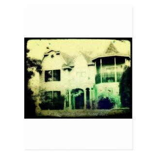 Spooky looking house merchandise postcard