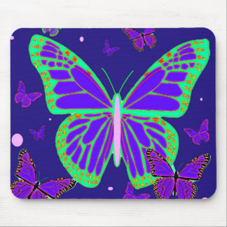 Spooky Luminous Butterflies By Sharles Art Mouse Pad