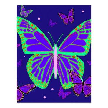 sharlesfineart Spooky Luminous Butterflies By Sharles Art Postcard