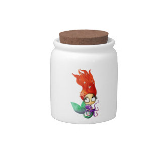 Spooky Mermaid with Octopus Candy Jars