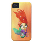 Spooky Mermaid with Octopus iPhone 4 Case-Mate Case