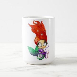 Spooky Mermaid with Octopus Coffee Mug