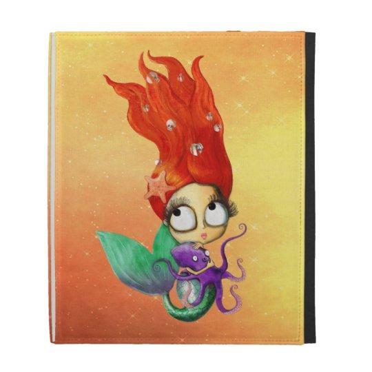 Spooky Mermaid with Octopus iPad Folio Cases