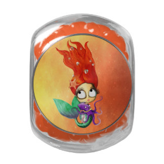 Spooky Mermaid with Octopus Jelly Belly Candy Jar