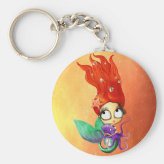 Spooky Mermaid with Octopus Keychain