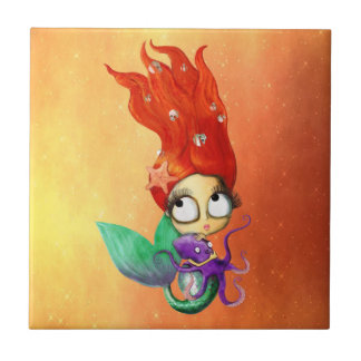 Spooky Mermaid with Octopus Tiles