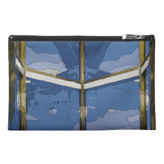 Spooky Midnight Window and Moon Travel Accessory Bag