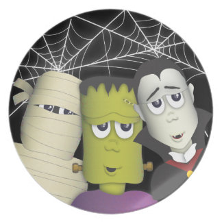 Spooky Monster & Friends Halloween Treat Plate