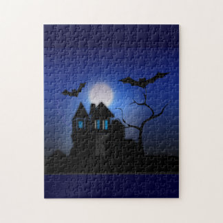 Spooky Moonlit Haunted House Puzzle