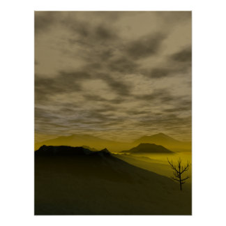 Spooky Mountains Poster