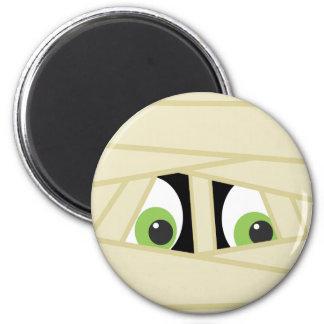 Spooky Mummy Head Halloween Magnet